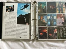 X-Files Trading Card Lot Binder Press Photo 1998 Fireman Figure Series 1 Scully image 12