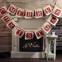 Merry Christmas Jute Burlap Banners,Christmas Banner,Christmas Decoration - $14.87
