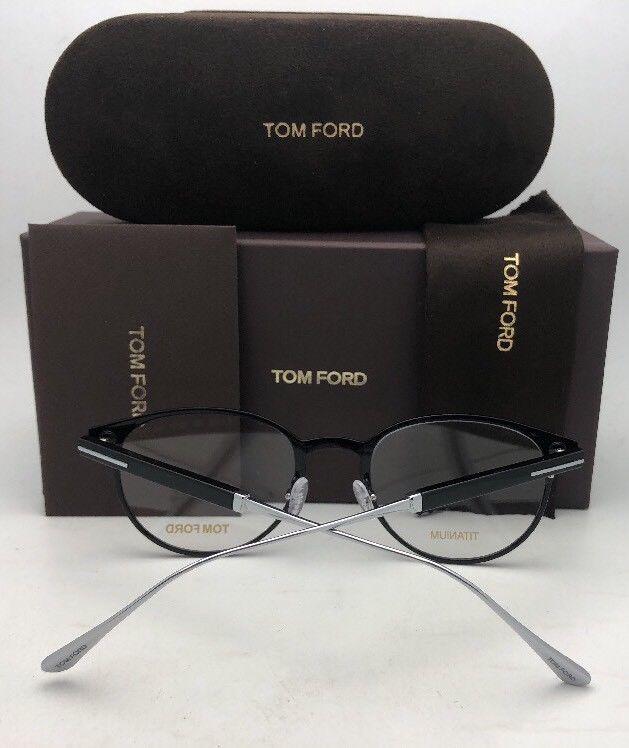 New TOM FORD Classic Eyeglasses TF 5482 001 50-21 Black & Silver Titanium Frames image 4