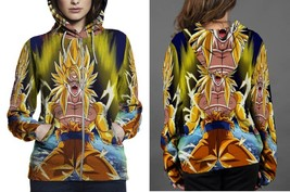 Hoodie Zipper womens Son-Goku-Super Saian - $46.70+