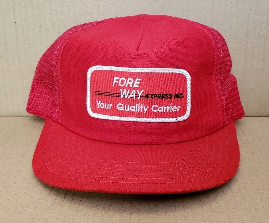 Fore Way Express Inc. Patch Mesh Foam Snapback Trucker Hat (Red)