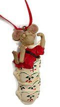 Merry Chrismouse in Teacup Stack Ornament by artist Holly Adler 3.5 inches - $15.00