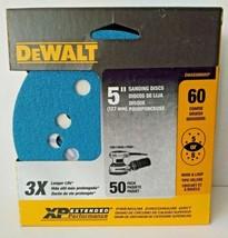 """Dewalt DWAS58060CP 5"""" 60 Grit Zirconium Sanding Discs H&L 5 or 8 Hole 50... - $9.90"""