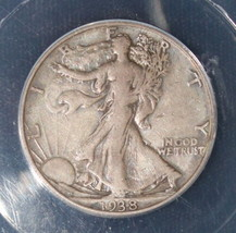 1938 D VF 25 Key Date Walking Liberty Half Dollar - $98.95