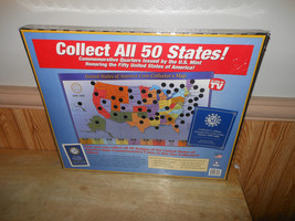 United States of America State Coin Collector's Map State Quarters 1999-... - $19.33