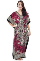 Fabulous Kaftan Dress, Bohemian Casual Beach Caftan, Free Size, Plus Size - $11.30