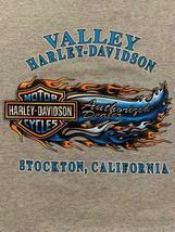 Harley Davidson Valley Harley Davidson Stockton California Made in USA Size L image 4