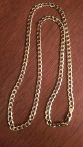 """10K Yellow Gold 5.25 Mm SEMI-SOLID 24"""" Curb Link Chain Necklace - 8.7 Grams - $556.31"""