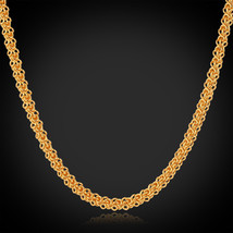 Necklaces 18K Real Gold Plated Twisted Gift Classic 55CM 22 I N433 - $23.99+