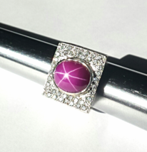 """IN THE MONEY"" MEN'$ RING~DIAMOND$(1.11 CTW)PLUM STAR SAPPHIRE~14K W.GOL... - $2,950.00"