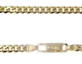 MASSIVE 18K GOLD GOURMETTE CUBAN CURB CHAIN 4 MM 20 INCH. NECKLACE MADE IN ITALY image 1