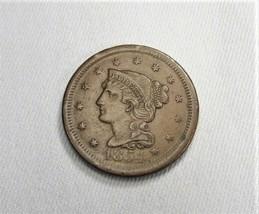 1854 Large Cent AU Coin AI101 - $119.90