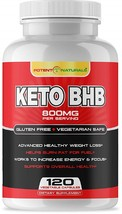 Potent Naturals Keto Pills - BHB Salts 800mg BHB Exogenous Ketones 120 Caps - $96.99