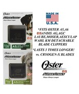 OSTER SUPERSTEELS(Like Titanium)4F&10 BLADE FIT A5,A6,Andis AGC,Wahl KM ... - $71.08