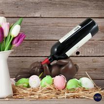 World of Wonders Chocolate Bunny Brew Wine Bottle Holder Easter Home Decor  - $29.95