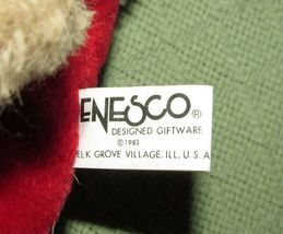 "10"" Vintage ENESCO PJ TEDDY Plush Bear BABY'S FIRST CHRISTMAS Stuffed KOREA RARE image 5"