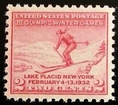 1932 2c Winter Olympics, Lake Placid Scott 716 Mint F/VF NH - $1.28