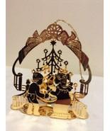 "Danbury Mint - 1989 Gold Christmas Ornament -  ""Christmas Morning"" (A6) - $15.95"