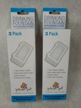 Lot of 2 Pioneer Pet T-Shaped Filter for Food Water & Serene Fountain 3 ... - $29.69