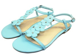 CALEB-10 New Flats Sandals Buckle Gladiator Party Beach Women Shoes Blue 6.5 - $12.46