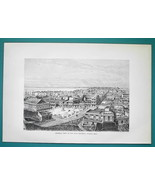 PUERTO RICO View of San Juan Bautista - 1891 Antique Print Engraving - $20.25