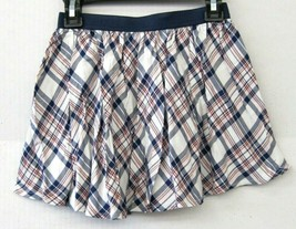 Epic Threads Girls Skirt Navy Wine White Plaid Above Knee Size 6 $20 NEW... - $15.83