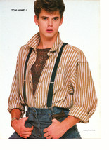 C Thomas Howell Scott Baio teen magazine pinup clipping suspenders on jeans Bop