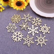Wooden DIY Snowflakes Star Shape Pendant Christmas Tree Hanging Decor 50... - $5.99