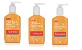 3 Pack Neutrogena OIL-FREE Acne Wash 6 Oz Expire 1/2022 - $25.73