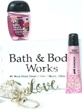 Bath & Body Works Love Peace Peppermint Pocketbac, Love Key Chain, Gum D... - $20.94