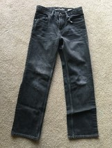 Gap Kids Original 1969 Black Denim Jeans 12 Regular Boys Straight Leg Ad... - $9.89