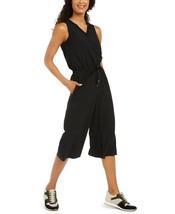 Ideology V-Neck Cropped Woven Jumpsuit, Black, M - $37.17