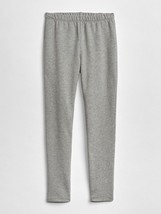 Gap Kids Girls Leggings 8 Heather Gray Soft Terry Elastic Waist Cotton S... - $14.99
