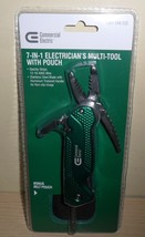 7-IN-1 Electrician's Multi-Tool With Pouch ~ by Commercial Electric - $11.39