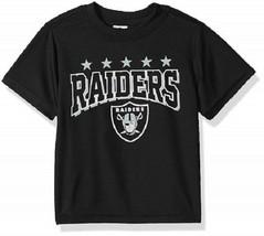 NFL Oakland Raiders T-Shirt Logo on Black Short Sleeve Size 3T Youth Gerber - $17.95
