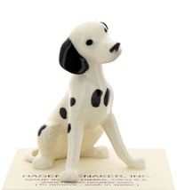Hagen-Renaker Miniature Ceramic Dog Figurine Dalmatian Sitting - $10.49