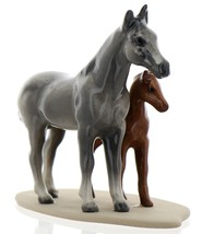 Hagen-Renaker Miniature Ceramic Horse Figurine Appaloosa Mare and Colt on Base image 3
