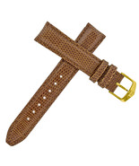 Tag Heuer 20 - 18 mm Brown Lizard Leather Watch Strap Gold-Tone Buckle - $169.00