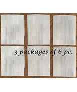 CORRUGATED METAL ROOFING - 3 PACKS of our 6 piece set / Bird house Roofing - $51.47
