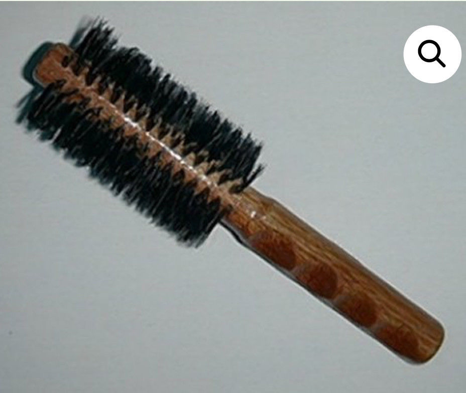 2.5 Pure Boar Bristle Rd Hair Brush new,  comfort wood carved grip by hairsense