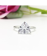 US 7 Trillion Solitaire Diamond Simulant Engagement 6ct Triangle Eternit... - $85.99