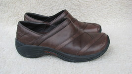Merrell SHOES Performance Footwear Woman's 6.5 Brown Leather Loafers Quality Wow - $18.80