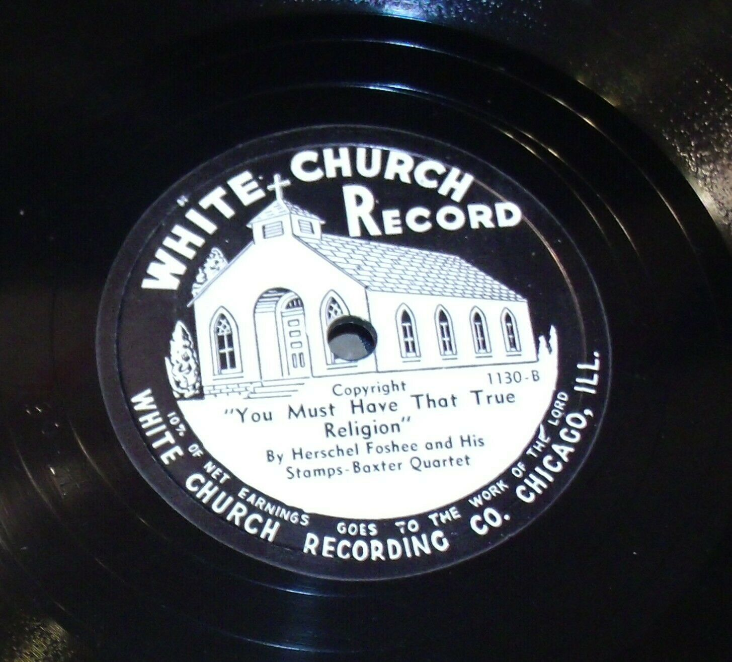 White Church Record # 1130 AA-191720N Vintage Collectible