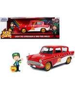 1959 Ford Anglia Red and White with Lucky the Leprechaun Diecast Figurin... - $56.57