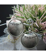 Thai Hill Tribe Earrings Pure Silver Ethnic Tribal Round podduang R510 - $14.00