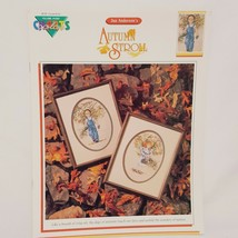Autumn Stroll Country Cross Stitch Leaflet Book Color Charts 1990 Children  - $19.99