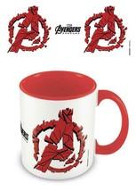 Avengers Endgame Shattered Logo Mug - $11.23
