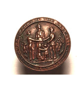 BRONZE CIVIL WAR VETERAN GRAND ARMY OF THE REPUBLIC BUTTON Rare 1861 - 1... - $44.55
