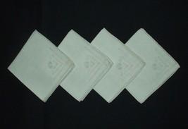 """Luncheon Tea Napkins 10"""" x 10"""" Square  Antique Linen Set of 4 Pristine E... - $14.80"""