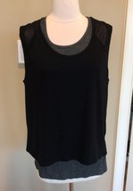 Tank Fitness Workout Top Black Tangerine Womens S New Sleeveless - $9.99